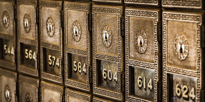 Nummerierte Bankschließfächer