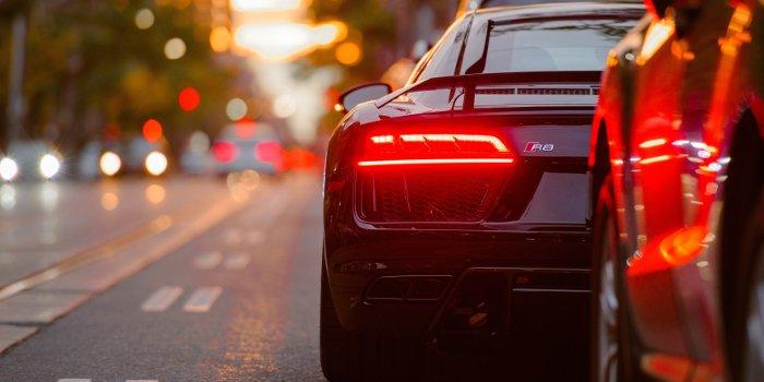 Stadtverkehrt in den Abendstunden