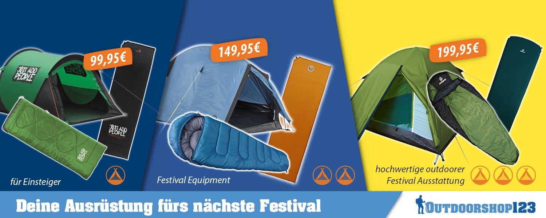 Outdoor-Gegenstände wie Zelt, Schlafsack & Co.